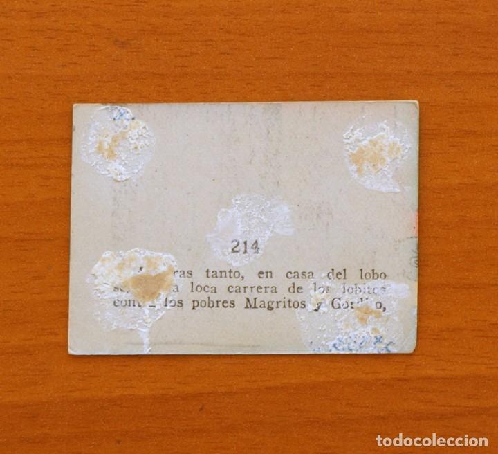 Coleccionismo Cromos antiguos: Los tres cerditos y Caperucita Roja contra el Lobo Feroz - Cromo, nº 214 - Editorial Bruguera 1945 - Foto 2 - 105242051