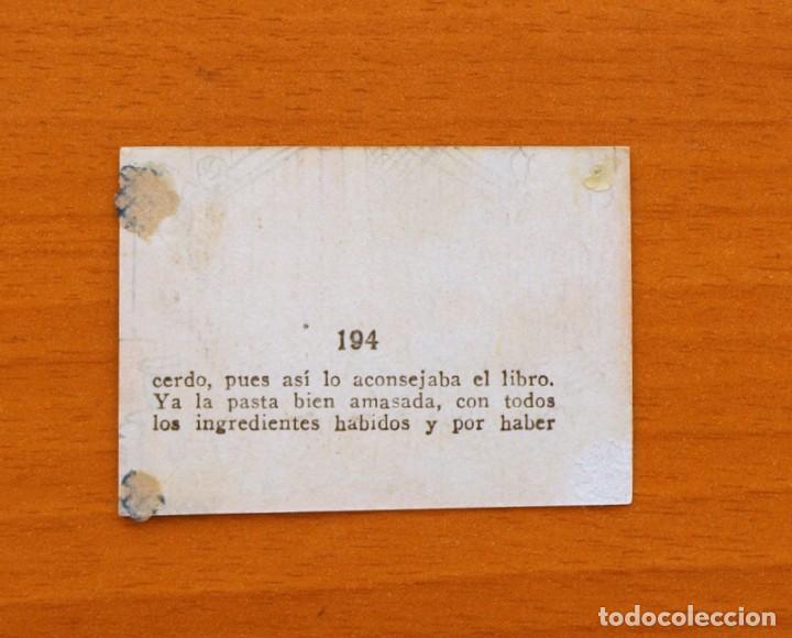 Coleccionismo Cromos antiguos: Los tres cerditos y Caperucita Roja contra el Lobo Feroz - Cromo, nº 194 - Editorial Bruguera 1945 - Foto 2 - 105242247