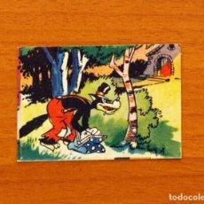 Coleccionismo Cromos antiguos: LOS TRES CERDITOS Y CAPERUCITA ROJA CONTRA EL LOBO FEROZ - CROMO, Nº 141 - EDITORIAL BRUGUERA 1945. Lote 105242675