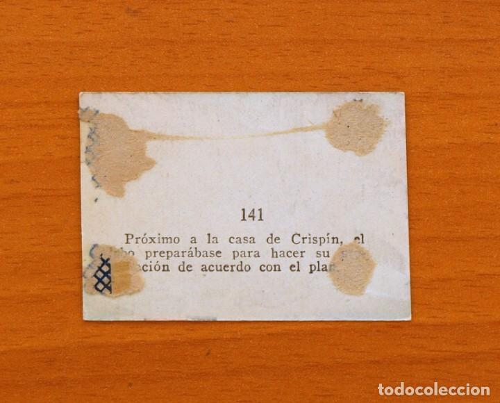 Coleccionismo Cromos antiguos: Los tres cerditos y Caperucita Roja contra el Lobo Feroz - Cromo, nº 141 - Editorial Bruguera 1945 - Foto 2 - 105242675