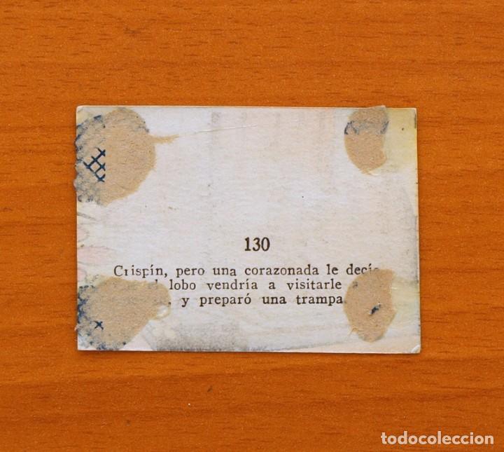 Coleccionismo Cromos antiguos: Los tres cerditos y Caperucita Roja contra el Lobo Feroz - Cromo, nº 130 - Editorial Bruguera 1945 - Foto 2 - 105243315