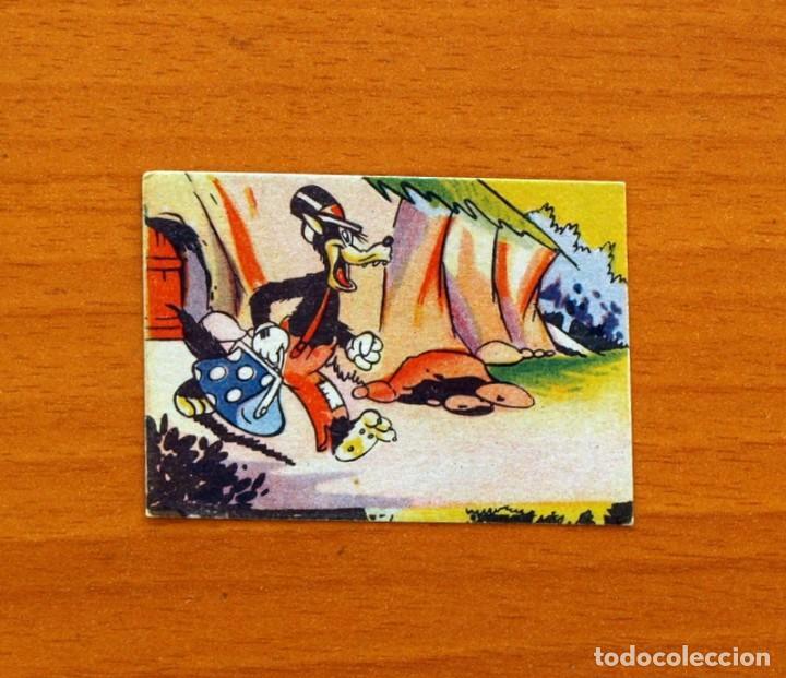 LOS TRES CERDITOS Y CAPERUCITA ROJA CONTRA EL LOBO FEROZ - CROMO, Nº 100 - EDITORIAL BRUGUERA 1945 (Coleccionismo - Cromos y Álbumes - Cromos Antiguos)
