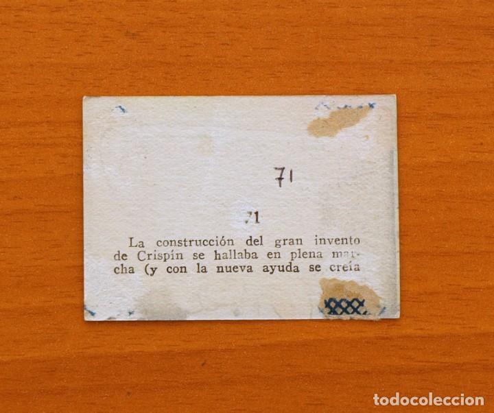 Coleccionismo Cromos antiguos: Los tres cerditos y Caperucita Roja contra el Lobo Feroz - Cromo, nº 71 - Editorial Bruguera 1945 - Foto 2 - 105243431