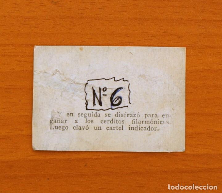 Coleccionismo Cromos antiguos: Los tres cerditos y Caperucita Roja contra el Lobo Feroz - Cromo, nº 6 - Editorial Bruguera 1945 - Foto 2 - 105243555
