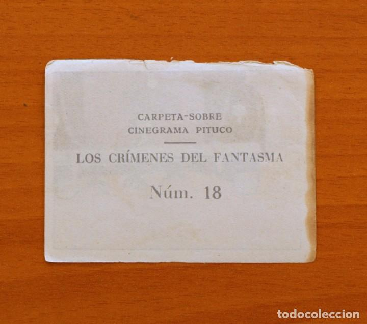 Coleccionismo Cromos antiguos: Los crímenes del fantasma - Nº 18 - Baguña Hermanos 1946 - Cinegrama Pituco - Nunca pegado - Foto 2 - 105459403