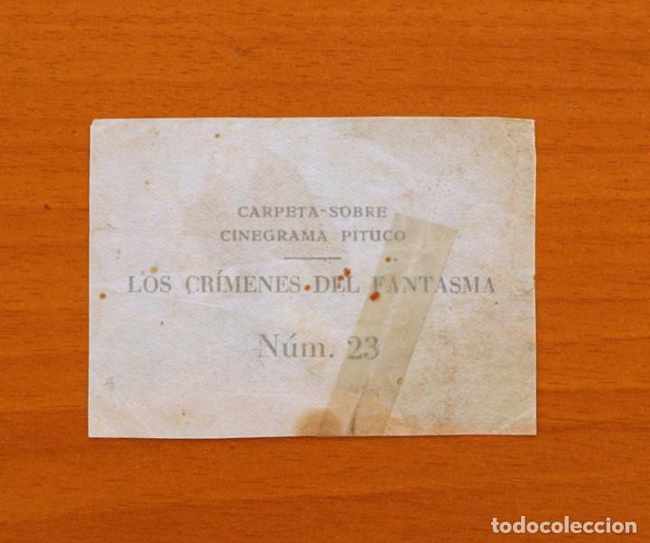 Coleccionismo Cromos antiguos: Los crímenes del fantasma - Nº 23 - Baguña Hermanos 1946 - Cinegrama Pituco - Nunca pegado - Foto 2 - 105459863