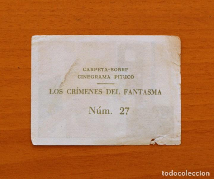 Coleccionismo Cromos antiguos: Los crímenes del fantasma - Nº 27 - Baguña Hermanos 1946 - Cinegrama Pituco - Nunca pegado - Foto 2 - 105460131