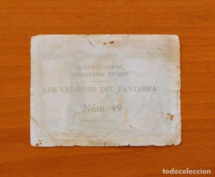 Coleccionismo Cromos antiguos: Los crímenes del fantasma - Nº 49 - Baguña Hermanos 1946 - Cinegrama Pituco - Nunca pegado - Foto 2 - 105460511