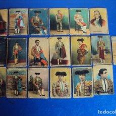 Coleccionismo Cromos antiguos: (CHO-387)LOTE DE 19 CROMOS ANTIGUOS TOREROS. Lote 105718007