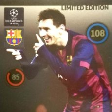 Coleccionismo Cromos antiguos: LIONEL MESSI - F.C. BARCELONA - PANINI ADRENALYN CHAMPIONS LEAGUE 2014 2015 14 15 - LIMITED EDITION. Lote 114094203