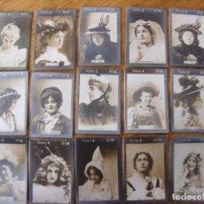 Coleccionismo Cromos antiguos: COLECCIÓN 55 FOTOTIPIAS/CROMOS - SÉRIE 2 - MUJERES CELEBRES ÉPOCA-FINAL. SIGLO XIX-PRINC. XX. Lote 104510667