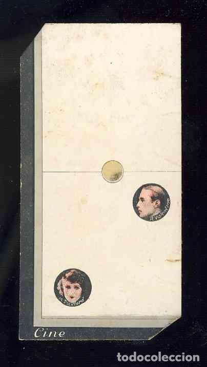 CROMO-FICHA DE CARTON GRUESO DEL DOMINO ARTISTICO: CINE. ZERO-DOS (0-2). CHOC.BOIX (Coleccionismo - Cromos y Álbumes - Cromos Antiguos)