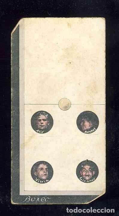 CROMO-FICHA DE CARTON GRUESO DEL DOMINO DEPORTIVO: BOXEO. ZERO-CUATRO (0-4). CHOC.BOIX (Coleccionismo - Cromos y Álbumes - Cromos Antiguos)