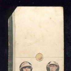 Coleccionismo Cromos antiguos: CROMO-FICHA DE CARTON GRUESO DEL DOMINO ARTISTICO: CINE. ZERO-SEIS (0-6). CHOC.BOIX. Lote 106123231