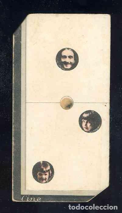 CROMO-FICHA DE CARTON GRUESO DEL DOMINO ARTISTICO: CINE. UNO-DOS (1-2). CHOC.BOIX (Coleccionismo - Cromos y Álbumes - Cromos Antiguos)
