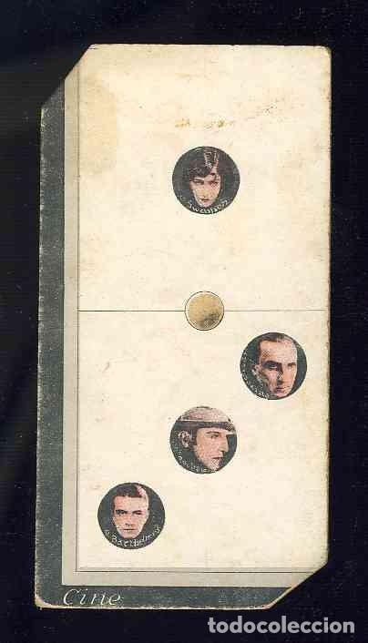 CROMO-FICHA DE CARTON GRUESO DEL DOMINO ARTISTICO: CINE. UNO-TRES (1-3). CHOC.BOIX (Coleccionismo - Cromos y Álbumes - Cromos Antiguos)