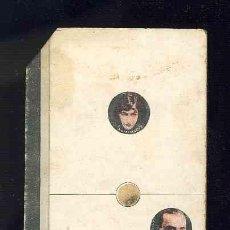 Coleccionismo Cromos antiguos: CROMO-FICHA DE CARTON GRUESO DEL DOMINO ARTISTICO: CINE. UNO-TRES (1-3). CHOC.BOIX. Lote 106123707