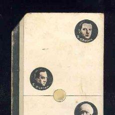 Coleccionismo Cromos antiguos: CROMO-FICHA DE CARTON GRUESO DEL DOMINO ARTISTICO: CINE. DOS-TRES (2-3). CHOC.BOIX. Lote 106124887
