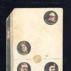 Coleccionismo Cromos antiguos: CROMO-FICHA DE CARTON GRUESO DEL DOMINO ARTISTICO: DRAMA, TEATRO. DOS-SEIS (2-6). CHOC.BOIX. Lote 106125591