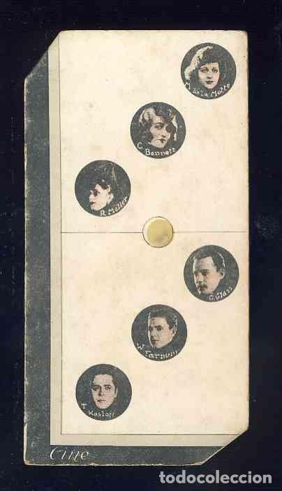 CROMO-FICHA DE CARTON GRUESO DEL DOMINO ARTISTICO: CINE. DOBLE TRES (3-3). CHOC.BOIX (Coleccionismo - Cromos y Álbumes - Cromos Antiguos)
