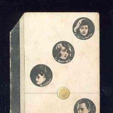 Coleccionismo Cromos antiguos: CROMO-FICHA DE CARTON GRUESO DEL DOMINO ARTISTICO: CINE. DOBLE TRES (3-3). CHOC.BOIX. Lote 106125603