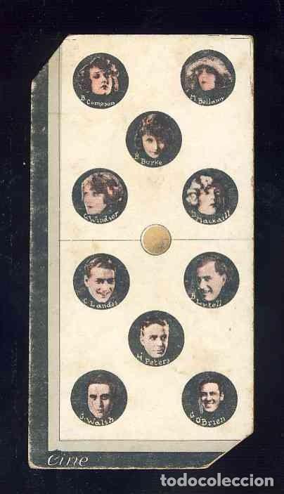 CROMO-FICHA DE CARTON GRUESO DEL DOMINO ARTISTICO: CINE. DOBLE CINCO (5-5). CHOC.BOIX (Coleccionismo - Cromos y Álbumes - Cromos Antiguos)