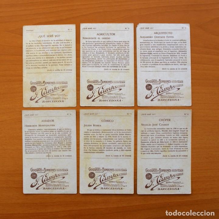 Coleccionismo Cromos antiguos: Qué seré yo? - Colección completa 25 cromos - Publicidad Chocolates y Bombones F. Camps - Foto 3 - 106130331