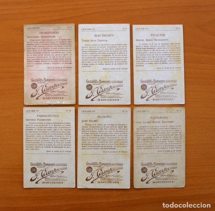 Coleccionismo Cromos antiguos: Qué seré yo? - Colección completa 25 cromos - Publicidad Chocolates y Bombones F. Camps - Foto 5 - 106130331
