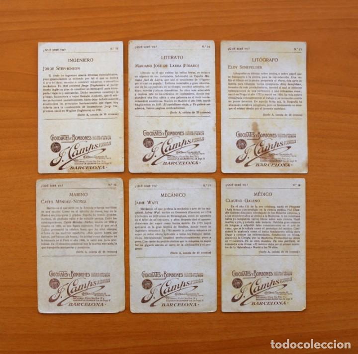 Coleccionismo Cromos antiguos: Qué seré yo? - Colección completa 25 cromos - Publicidad Chocolates y Bombones F. Camps - Foto 7 - 106130331