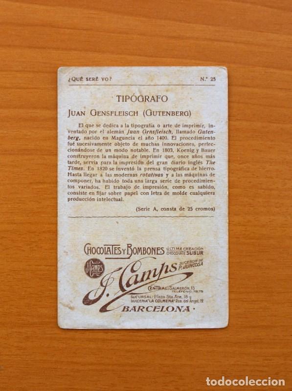 Coleccionismo Cromos antiguos: Qué seré yo? - Colección completa 25 cromos - Publicidad Chocolates y Bombones F. Camps - Foto 11 - 106130331