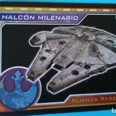 Coleccionismo Cromos antiguos: TOPPS STAR WARS HALCON MILENARIO. Lote 106564091