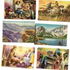 Coleccionismo Cromos antiguos: LEJANO OESTE - 91 CROMOS DIFERENTES - TAMBIEN SUELTOS. Lote 107020479