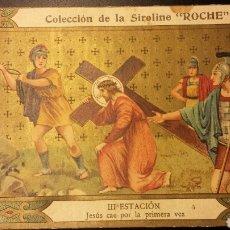Coleccionismo Cromos antiguos: ANTIGUO CROMO DE CHOCOLATES SIROLINE ROCHE VIA CRUCIS FARMACIA. Lote 107370560