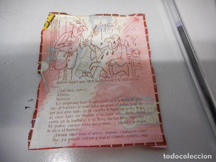 CROMO CHISTE ENVOLTORIO BIMBO PANTERA ROSA TIGRETON BUCANEROS ETC, NUMERADO 26 CREO NO PANRICO (Coleccionismo - Cromos y Álbumes - Cromos Antiguos)