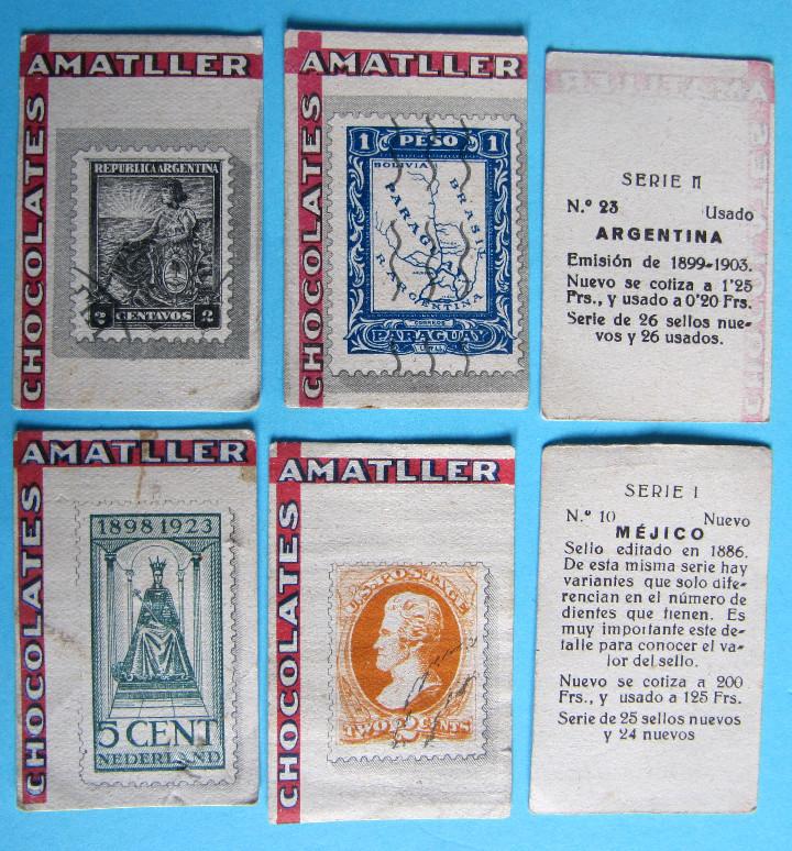 Coleccionismo Cromos antiguos: LOTE DE CROMOS. CROMOS SUELTOS; 0,70 €. REPRODUCCIONES DE LOS SELLOS POSTALES DEL MUNDO. AMATLLER - Foto 3 - 104891779