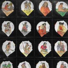 Coleccionismo Cromos antiguos: COLECCION CROMOS TAPAS DE KAFFEERAHM PUEBLOS INDIOS COMPLETA CON SOLAPA Y SENCILLA. Lote 109386167