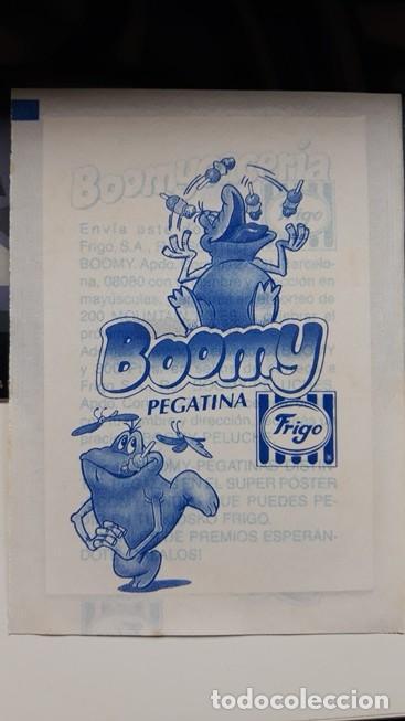 Coleccionismo Cromos antiguos: pegatina frigo boomy en envoltorio original - Foto 2 - 109404023
