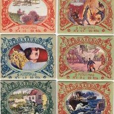 Coleccionismo Cromos antiguos: GUERRA EUROPEA CROMOS LOTE 11 SOBRES CON 6 FOTOTIPIAS CADA UNO . Lote 109539563