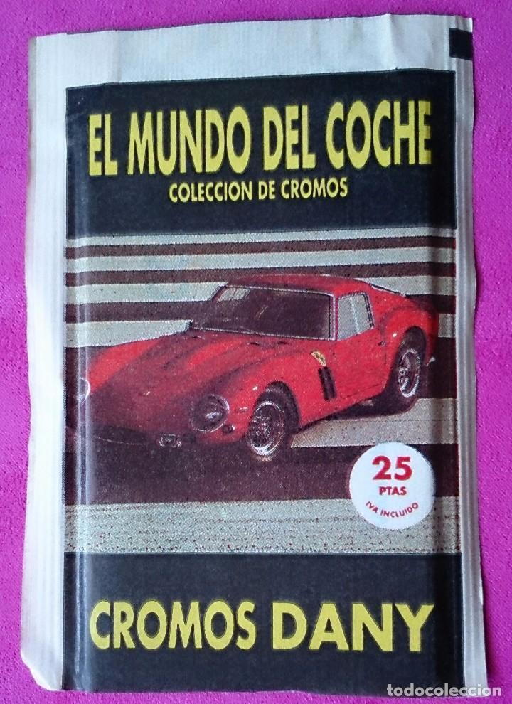 SOBRE DE CROMOS SIN ABRIR EL MUNDO DEL COCHE COLECCIÓN DANY (Coleccionismo - Cromos y Álbumes - Cromos Antiguos)