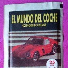 Coleccionismo Cromos antiguos: SOBRE DE CROMOS SIN ABRIR EL MUNDO DEL COCHE COLECCIÓN DANY . Lote 110446175