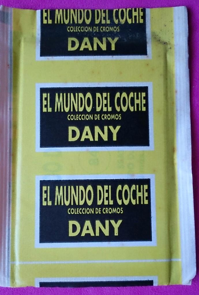 Coleccionismo Cromos antiguos: Sobre de cromos sin abrir El Mundo del Coche colección Dany - Foto 2 - 110446175