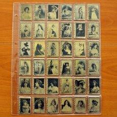 Coleccionismo Cromos antiguos: FOTOTIPIAS DE LAS CAJAS DE CERILLAS - SERIE 3 - COLECCIÓN COMPLETA - 75 FOTOTIPIAS. Lote 110603183