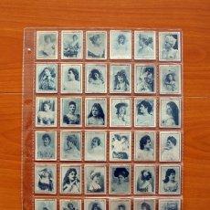 Coleccionismo Cromos antiguos: FOTOTIPIAS DE LAS CAJAS DE CERILLAS - SERIE 6 ª ACTRICES - COLECCIÓN COMPLETA, 75 CROMOS. Lote 110605063