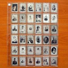Coleccionismo Cromos antiguos: FOTOTIPIAS DE LAS CAJAS DE CERILLAS - SERIE 9, MONARQUIA Y NOBLEZA - COLECCIÓN COMPLETA, 75 CROMOS. Lote 110605183