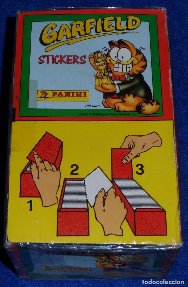 Coleccionismo Cromos antiguos: Caja 100 sobres de Garfield - PANINI - Foto 4 - 194531996