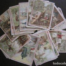 Coleccionismo Cromos antiguos: COLECCION 30 CROMOS INDUSTRIAS-TEXTO EN ESPAÑOL FRANCES E INGLES-MUY ANTIGUO-VER FOTOS -(V-13.346). Lote 111285283
