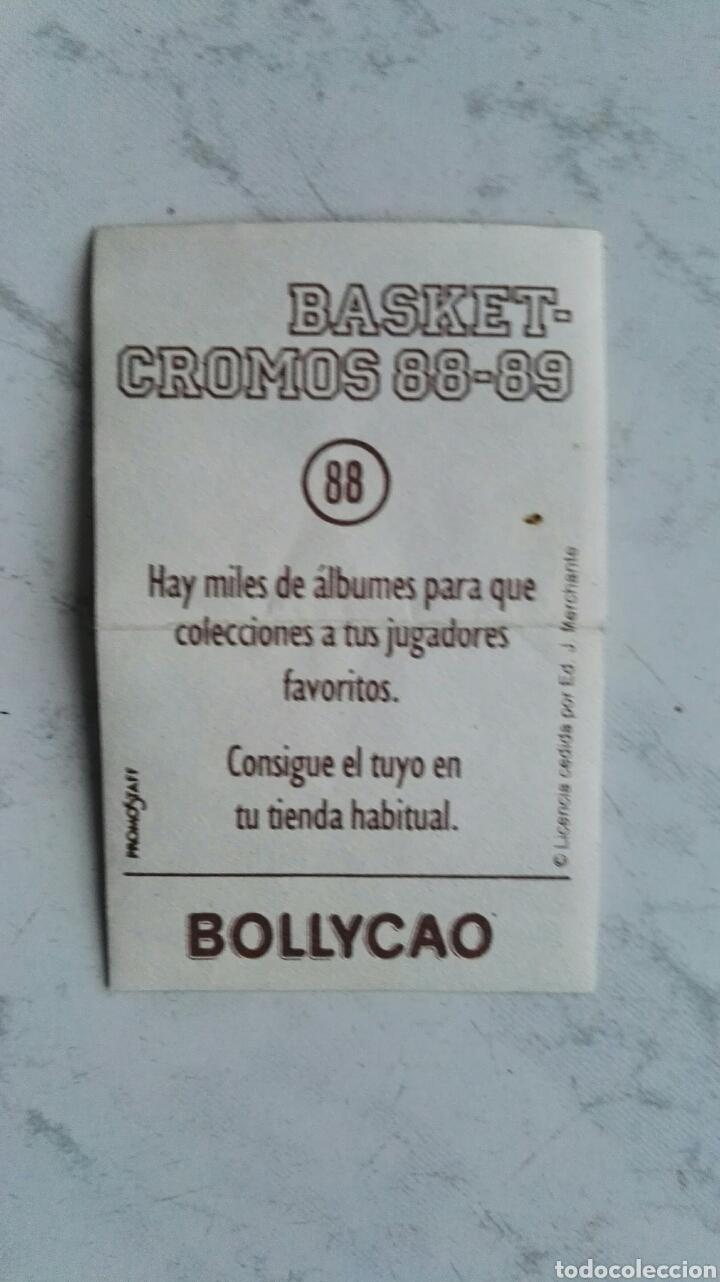 Coleccionismo Cromos antiguos: Basket cromos 88-89 bollycao n° 88 pegatina cromo joan pages - Foto 2 - 111313982