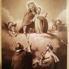 Coleccionismo Cromos antiguos: ANTIGUO CROMO RELIGIOSO CON ESTAMPA PEGADA - LOTE DE 2 - . Lote 111911031