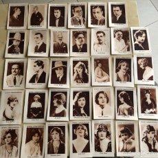 Coleccionismo Cromos antiguos: COLECCIÓN 34 CROMOS ARTISTAS CINEMATOGRÁFICOS CHOCOLATE ANGELICAL. Lote 112093090
