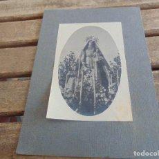 Coleccionismo Cromos antiguos: FOTO FOTOGRAFIA PEGADA SOBRE CARTON VIRGEN DEL CARMEN. Lote 112366651